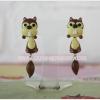 ต่างหูดินปั้น กระรอกน้อย Chipmunk Earrings
