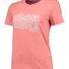 เสื้อทีเชิ้ตผู้หญิงแมนเชสเตอร์ ยูไนเต็ด ปัก Manchester United สีชมพู
