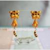 ต่างหูดินปั้นเสือ น้อย Cute tiger Earrings