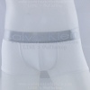 กางเกงในชาย Calvin Klein Boxer Briefs : สีขาว แถบเงิน [Nylon]