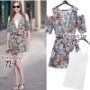 Cliona Made , Zara V- Graphy Off-Shoulder Dress