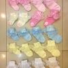 ถุงเท้าเด็กหญิง ระบายลูกไม้ สำหรับเด็ก 0 - 7 ปี สีชมพู