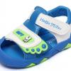 รองเท้ารัดส้นเด็กวัยหัดเดิน สีฟ้าขาวปิดปลายนิ้วเท้ากันชน Size 15-18