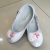 รองเท้าคัชชูออกงานเด็กหญิงสีขาว หมุนสายรัดข้อเท้าได้ Size 26