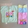 [แพค 3 ตัว] เสื้อเด็กทารกแรกเกิด ผูกหลัง ผ้ายืด คละลาย