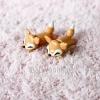 ต่างหูดินปั้น Baby orange fox