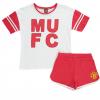 เสื้อแมนเชสเตอร์ ยูไนเต็ดของแท้ สำหรับสุภาพสตรี Manchester United Sporty Pyjamas - Red/White - Womens