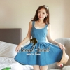 Bow Bow Camisol Denim Dress by Seoul Secret