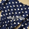 Lady Ribbon's Made Lady Dree Monochrome Heart-Shaped Print Mini Dress