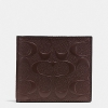 กระเป๋าสตางค์ผู้ชาย COACH COIN WALLET IN SIGNATURE CROSSGRAIN LEATHER F75363 : MAHOGANY