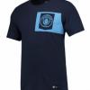 เสื้อทีเชิ้ตแมนเชสเตอร์ ซิตี้ของแท้ Manchester City Crest T-Shirt - Navy