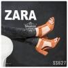 """627) Zara Shine ส้น 3"""" ผ่าหน้าแปะเมจิกเทปด้านข้าง"""