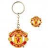 พวงกุญแจที่ระลึกแมนเชสเตอร์ ยูไนเต็ดของแท้ 100% Manchester United Crest Badge and Keyring Set