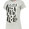 เสื้อแมนเชสเตอร์ ยูไนเต็ดของแท้ สำหรับสุภาพสตรี Manchester United 3D Text T-Shirt - Sports Grey - Womens