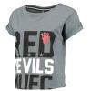 เสื้อแมนเชสเตอร์ ยูไนเต็ดของแท้ สำหรับสุภาพสตรี Manchester United Crop Top - Grey Rock Marl - Womens