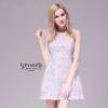 Sweet pastel floral sleeveless jacquard Dress