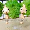 ต่างหูดินปั้น กระต่ายคาราเมล Bunny caramel Earrings