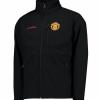 เสื้อแจ็คเก็ตกันหนาวแมนเชสเตอร์ ยูไนเต็ด โคลัมเบียแอสเซนเดอร์ซอฟท์เชลสีดำของแท้
