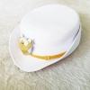หมวกปกติขาวผู้หญิง หน้าครุฑ สำหรับข้าราชการ ครู เทศบาล อบต.