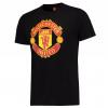 เสื้อทีเชิ้ตแมนเชสเตอร์ ยูไนเต็ด Core Crest T-Shirt - Red สีดำของแท้