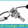 ไฟหน้า LED ขั้ว H7 Cree 3 ดวง 30W 3000lm ตัวใหม่ 2014