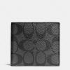 กระเป๋าสตางค์ผู้ชาย COACH DOUBLE BILLFOLD WALLET IN SIGNATURE F75083 : BLACK