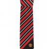 เนคไทแมนเชสเตอร์ ยูไนเต็ดของแท้ Manchester United Crest Striped Tie Red-Black White Polyester