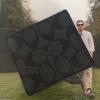 กระเป๋าสตางค์ผู้ชาย COACH COMPACT ID WALLET IN SIGNAURE F74993 : BLACK