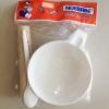 ถ้วยบดอาหารและป้อนข้าวเด็ก เมลามีน Nuebabe พร้อมช้อนและไม้บดอาหาร