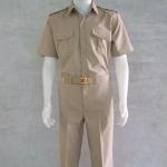 ชุดกากี ชุดข้าราชการสีกากี คอเชิ้ต แขนสั้น กางเกงขายาว สำหรับข้าราชการชาย