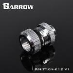Barrow Fitting K12 V1 สีเงิน ท่ออคริลิค12mm