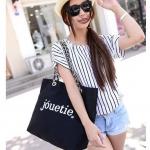 [ Prr-Order ] - กระเป๋าแฟชั่น นำเข้าสไตล์เกาหลี สีดำ สไตล์แบรนด์ดังจากญี่ปุ่น ทรง Shopping ใบใหญ่ เหมาะกับทุกโอกาสการใช้งานค่ะ