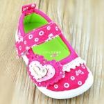 รองเท้าคัชชูเด็กหญิง สีชมพูสดใสน่ารัก มีเสียงเวลาเดิน Size 15-20 สำหรับเด็กวัย 1-2 ปี