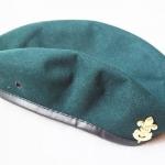 หมวกเบเล่สีเขียว