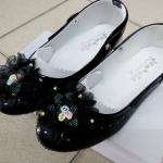 รองเท้าคัทชูหญิงสีดำ มีสายรัดหมุนเก็บได้ ไซส์ 25-36