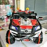รถแบตเตอรี่ไฟฟ้าเด็กนั่ง รถจิ๊ฟก่อสร้างสีแดง 2 มอเตอร์