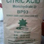 Citric Acid กรดมะนาว