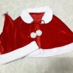 เสื้อคลุมไหล่ซานต้า แบบผูกคอ พร้อมหมวกซานต้า