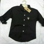 เสื้อเชิ๊ตสีดำเด็กชาย เบอร์ 2-16