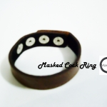 Brown Masked Leather Adjustment Cock Ring