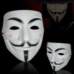หน้ากาก V FOR Vendetta สีขาว