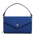 [ Pre-Order ] - กระเป๋าสตางค์แฟชั่น สไตล์เกาหลี สีน้ำเงินเข้ม ใบใหญ่(รุ่นใหม่หนังสวย) แต่งมงกุฎ งานหนังอัดลายสวยน่ารัก น่าใช้มากๆค่ะ