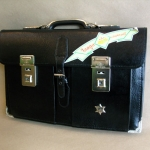 กระเป๋าถือนักเรียน ญี่ปุ่น High School แบบ 2 ตัวล็อค ขนาด 19 นิ้ว