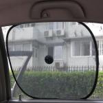 ตาข่ายกันแดดดูดกระจกรถยนต์ พับได้