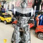 LN01 รถแบตเตอรี่หุ่นยนต์บังคับมีรีโมท (2แบต/2มอเตอร์)