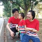 เสื้อครอบครัว สีสันสดใส สั่งเพิ่มซิปเปิดให้นมได้ มีให้เลือกหลายสี
