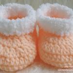 รองเท้าบู๊ทขนแกะ ส้มอ่อน - ขาว