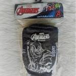 ถุงเท้านักเรียนคาร์สันลาย SuperHero สีขาวพื้นเทา