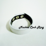 White Masked Leather Adjustment Cock Ring