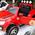 รถแบตเตอรี่เด็กนั่งไฟฟ้ารถกระบะฟอร์ด Ford Ranger 2มอเตอร์ มีโช๊ค สีแดง